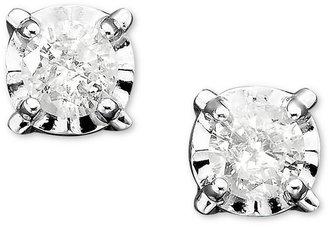 Diamond Stud Earrings in 14k White Gold (1/5 ct. t.w.)