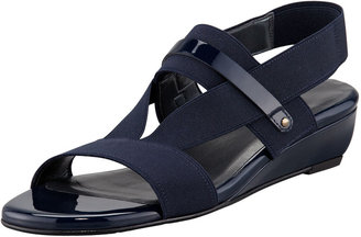Stuart Weitzman Here to Stay Stretch Slingback Sandal, Navy