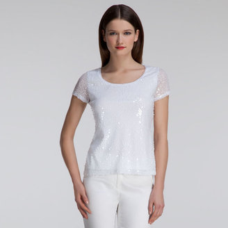 Anne Klein All Over Sequin Scoop Tank