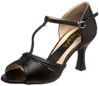 """Capezio Women's BR128 Alandra Latin T-Strap 2.5"""" Flared Heel Shoe"""