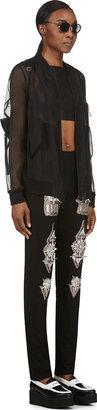 KTZ Black Berbere Jewel Patch Skinny Trousers