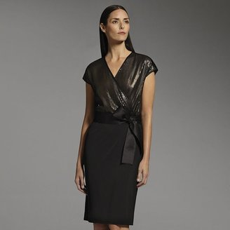 Narciso Rodriguez for designation sequin faux-wrap dress