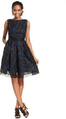 Isaac Mizrahi New York Dress, Sleeveless Sequined A-Line
