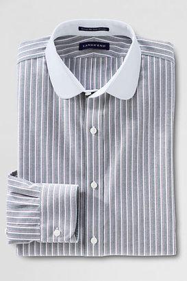 Lands' End Men's Regular Tailored Fit Pattern No Iron Oxford Club Collar Shirt