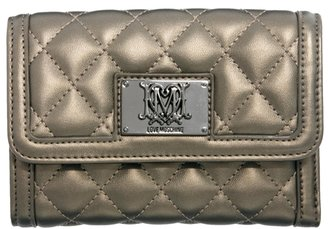 Love Moschino Quilted Flap Over Square Purse