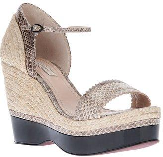 Nina Ricci braided espadrille sandal