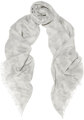 Stella McCartney Printed voile scarf