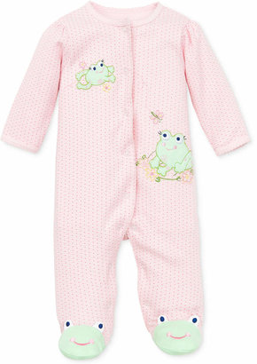 Little Me Baby Girls Coverall with Frog Footies