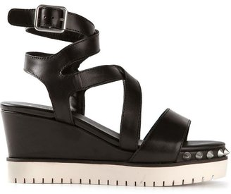 Ash studded wedge sandals