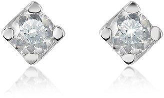 Forzieri 0.18 ct Diamond Stud 18k Gold Earrings