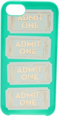 Kate Spade Admit One Resin Phone Case for iPhone 5 (Bright Beryl) - Bags and Luggage
