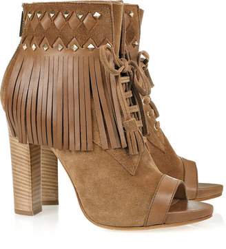 Emilio Pucci Fringed suede ankle boots
