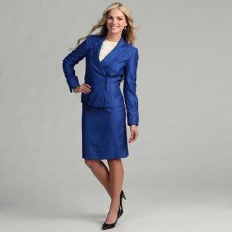 Tahari Women's Cobalt Beaded Detail Skirt Suit $53.24 thestylecure.com