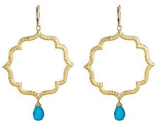 Sophia & Chloe Turquoise Kiss Earrings