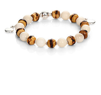 Gucci Love Bamboo, Tagua & Sterling Silver Beaded Bracelet