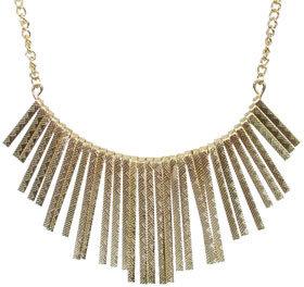 Wet Seal WetSeal Diamond Sticks Statement Necklace Gold