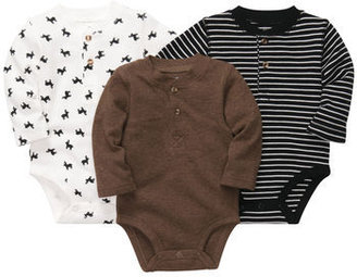 Carter's 3-Pack Long-Sleeve Holiday Bodysuits