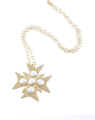 Susan Shaw Gold Cross Necklace