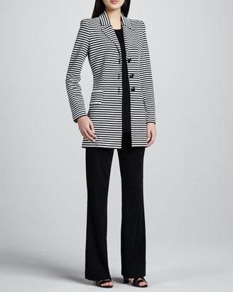 Misook Amelie Long Striped Knit Jacket, Women's