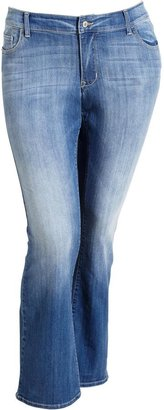 Old Navy Women's Plus The Rockstar Slim Boot-Cut Distressed-Wash Jeans