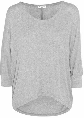 Splendid - Draped Stretch-jersey Top - Light gray $75 thestylecure.com