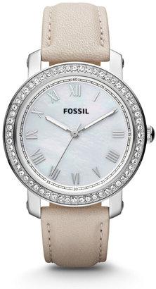 Fossil Emma Three Hand Leather Watch – Bone