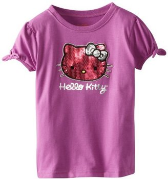 Hello Kitty Girls 2-6X Tee Shirt With Bows On Sleeves