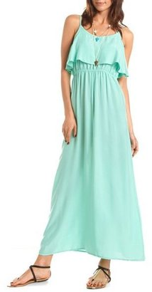 Charlotte Russe Ruffle Bust Challis Maxi Dress
