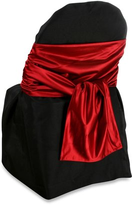 Luxury Essentials Faux Satin Flat End Sash in Red (Set of 6) $59.99 thestylecure.com