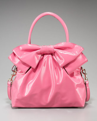 Valentino Lacca Double-Handle Bow Bag
