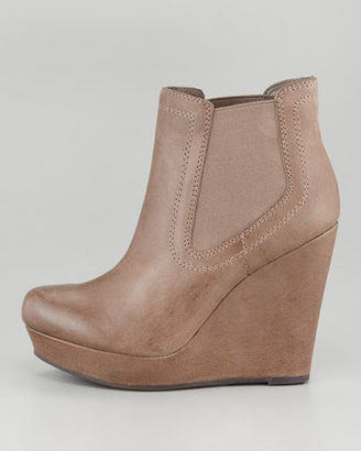 Seychelles Prime Suspect Leather Covered-Wedge Ankle Boot, Brown