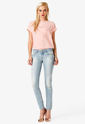 Forever 21 Frayed Distressed Jeans