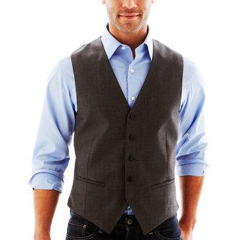 Claiborne Gray Twill Vest