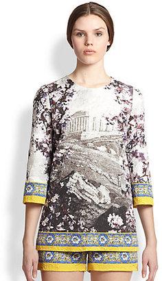 Dolce & Gabbana Ancient Ruin Print Tunic