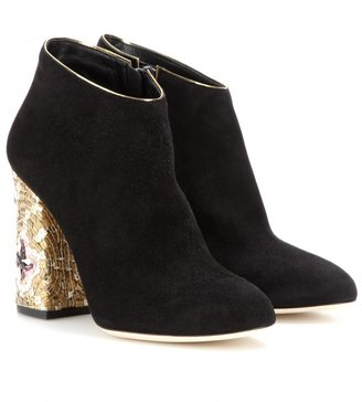 Dolce & Gabbana Vally embellished suede ankle boots