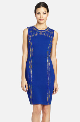 Cynthia Steffe 'Aundrea' Studded Ponte Sheath Dress