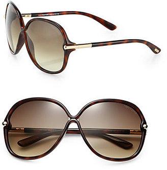 Tom Ford Calgary Crossover Oversized Square Plastic Sunglasses