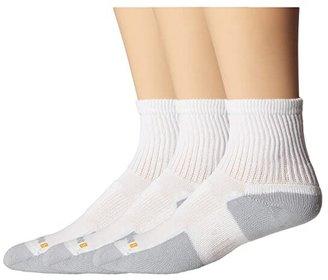 Drymax Sport Walking Crew 3-Pair Pack (White/Grey) Quarter Length Socks Shoes