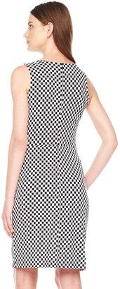 Michael Kors Printed Side-Drape Dress