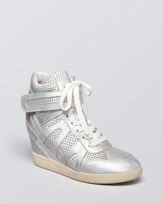 Ash Lace Up Wedge Sneakers - Beck