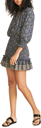 Veronica Beard Karlina Printed Flounce Short Dress