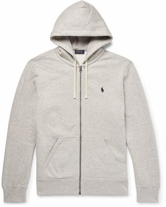 Polo Ralph Lauren Marl Cotton-blend Zip-up Hoodie