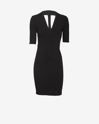 Helmut Lang Exclusive Gala Knit Dress: Black