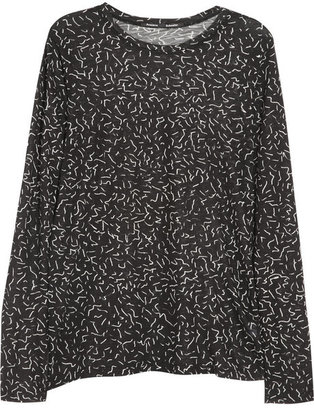 Proenza Schouler Printed tissue-cotton jersey top