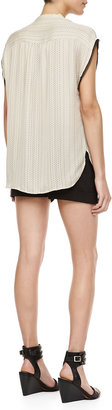 Haute Hippie Tailored Stretch-Crepe Shorts