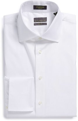 Men's Calibrate Trim Fit Non-Iron French Cuff Dress Shirt $59.50 thestylecure.com