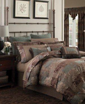 Croscill Galleria Brown California King 4-Pc. Comforter Set Bedding