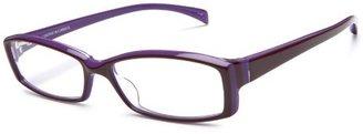 Corinne McCormack Women's Scarlett Rectangular Reader ,Burgundy and Purple Frame/Clear Lens,2.00