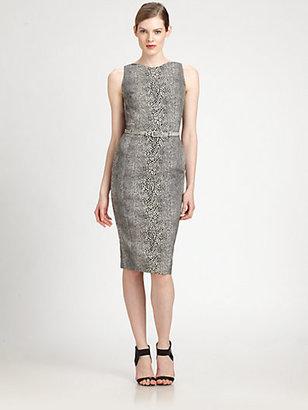 Antonio Berardi Belted Printed Dress