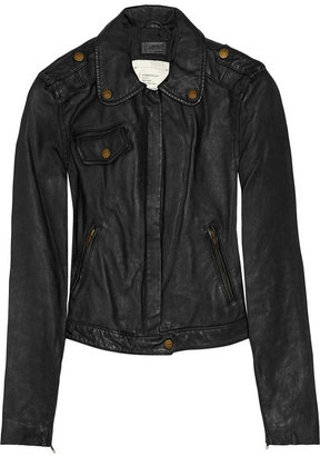 Current/Elliott The Zip leather biker jacket